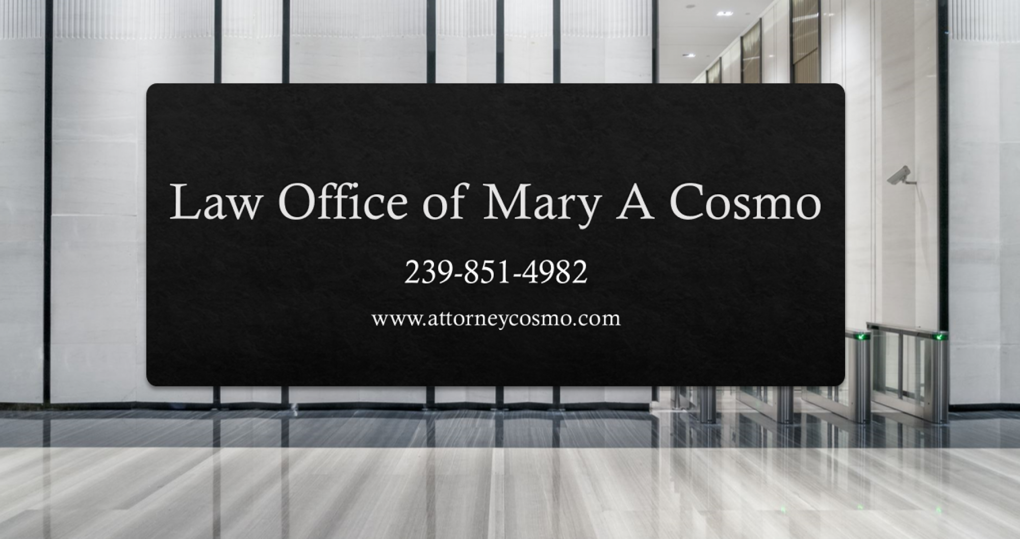 LAW OFFICE OF MARY A COSMO